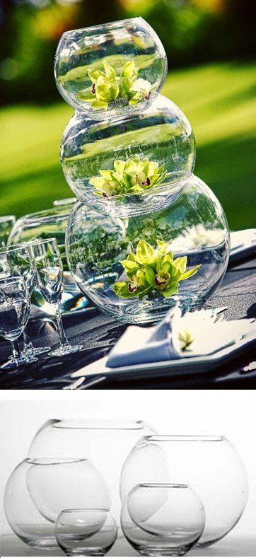 263 best images about innovias decoraci n con detalles en - Centros de mesa con peceras ...