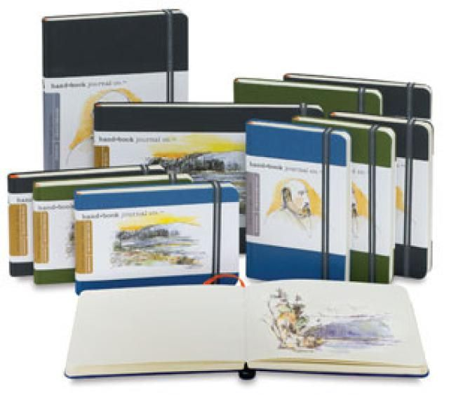 Best Sketchbook for Painting: Hand Book Fabric-Covered Sketchbook