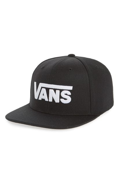 new arrival f33ef 989fd VANS DROP V II SNAPBACK CAP - BLACK.  vans