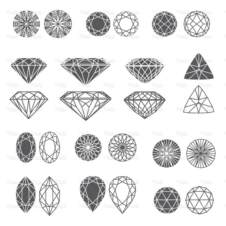 Set of diamonds stock vector art 21494305 - iStock