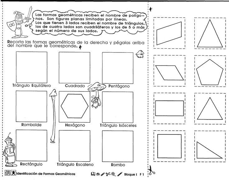 Identificación de formas geométricas (6to grado)                                                                                                                                                      Mais