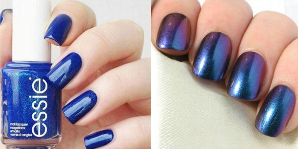 Συλλογή από μπλε νύχια σε oval σχήμα!