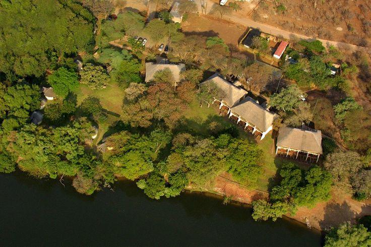 Aerial View of the Lodge - Chobe Safari Lodge, Chobe National Park, Botswana