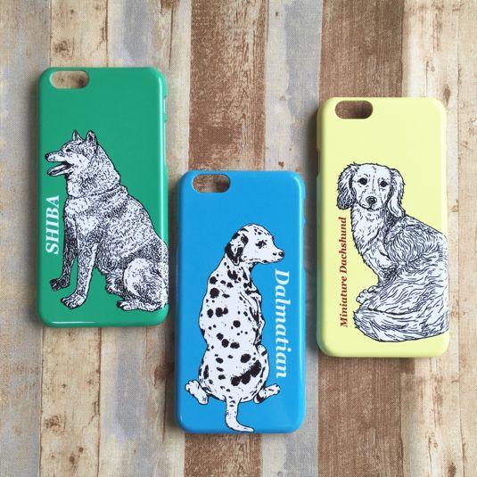 【受注生産】DOGS! スマホケース(柴犬、ダルメシアン、ミニチュアダックス) | ハンドメイドマーケット minne