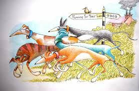Image result for cartoon greyhounds