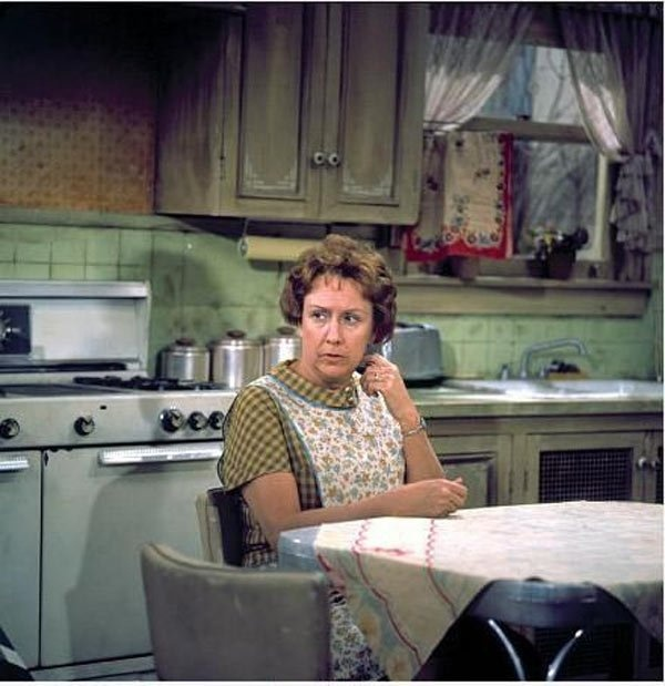 "Edith's kitchen. Jean Stapleton, 90. American actress best known for her role as ""Edith Bunker"" on the television show ""All in the Family"" [19-Jan-1923 to 31-May-2013]"