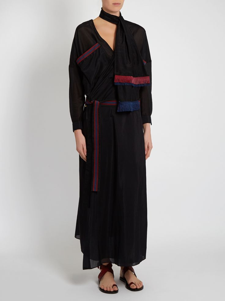 Click here to buy Albus Lumen Cotton and silk-blend wrap dress at MATCHESFASHION.COM