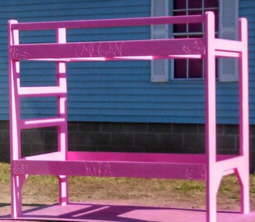 The Girls Pink Bunk Beds Kids Living Quarters