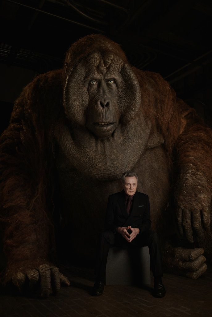 Christopher Walken with King Louie ..... The Jungle Book Cast's Photo Shoot With Animals   POPSUGAR Entertainment