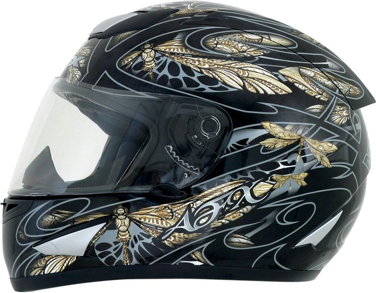 AFX FX-95 Dragonfly Full Face Motorcycle Helmet - Black / Silver