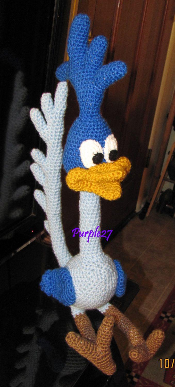 Crochet Roadrunner Pattern Pdf Instant Por Purple27crochet En Etsy