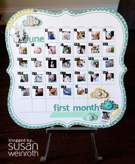 One month LO. I have some of these pages & will be scrap lifting this idea!