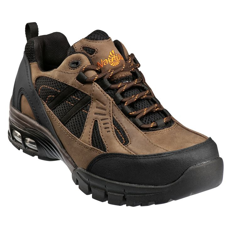 Nautilus Safety Footwear Men's Composite Safety Toe Leather and Mesh Work  Shoes - Brown/Black