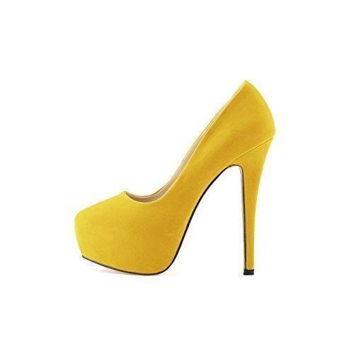 Oferta: 24.99€ Dto: -29%. Comprar Ofertas de OCHENTA Mujer de la plataforma del talon talones terciopelo Cuzhen zapatos comodos para caminar fiesta de bodas Amarillo 37 barato. ¡Mira las ofertas!