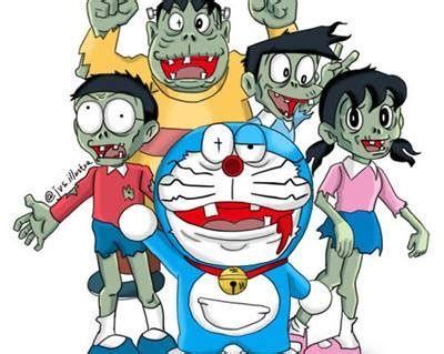 Wallpaper Doraemon Zombie 3d Kartun Zombie Gambar Kartun Doraemon zombie wallpaper images