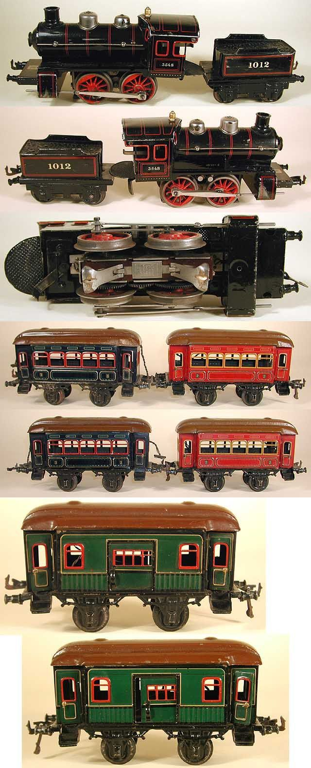 Antique toy train sets