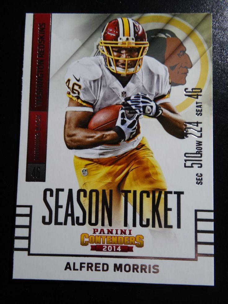 2014 Panini Contenders Season Ticket #81 Alfred Morris Washington Redskins Card #WashingtonRedskins