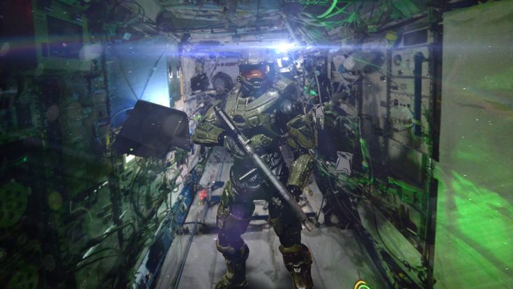 Master Chief aboard the International Space Station