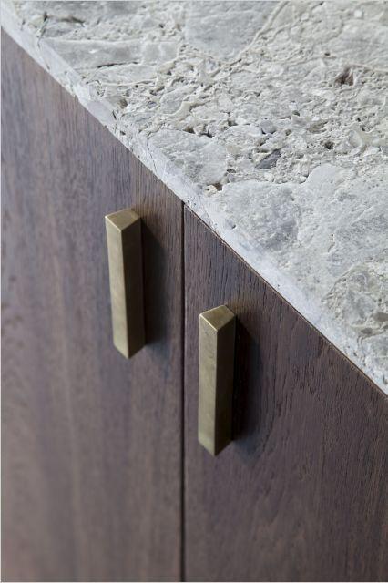 Worktop in Hullebusch Natural stone - kitchen detail