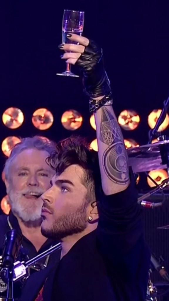 Tattoo!!! RT @Wild4Adam: Cheers to you @adamlambert - your NYE performance sparked the world - your talent is endless