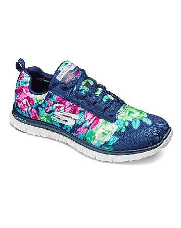SKECHERS Flex Appeal Womens Trainers Arrange a bouquet of colour with comfortable workout style in the SKECHERS Flex Appeal Wild Flowers trainers. Athletic lace-up trainers with Skech Knit Mesh and synthetic upper with floral print. Feat http://www.MightGet.com/january-2017-13/skechers-flex-appeal-womens-trainers.asp