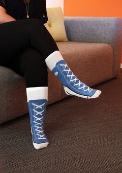 Sneaker Socks, punaisena. 6,90€/kpl. koko 40-41