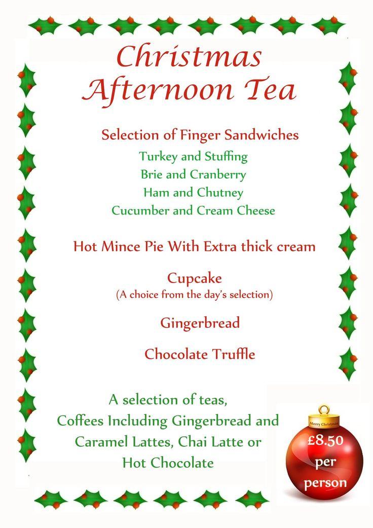 Best 25 high tea menu ideas on pinterest tea party menu high tea parties and tea time - Christmas menu pinterest ...