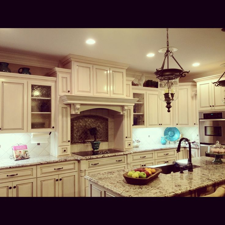 Stain Kitchen Cabinets With Glaze This Is Our Beautiful Kitchen I Wanted The White Looking