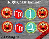 Sesame Street High Chair Banner | Elmo High Chair Banner