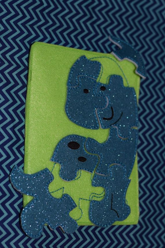 Dinosaur Soft Felt Puzzle and Case Travel Toy by RosieKEmbroidery, $10.00