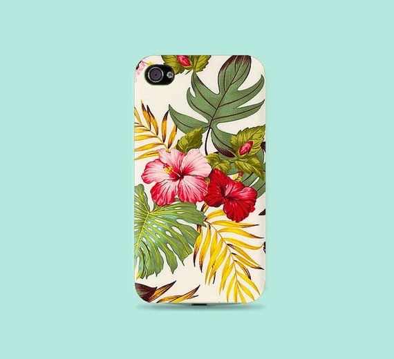 Hawaii Hibiscus flower Plastic Hard Case  iphone by CatCheeseCase, $16.99