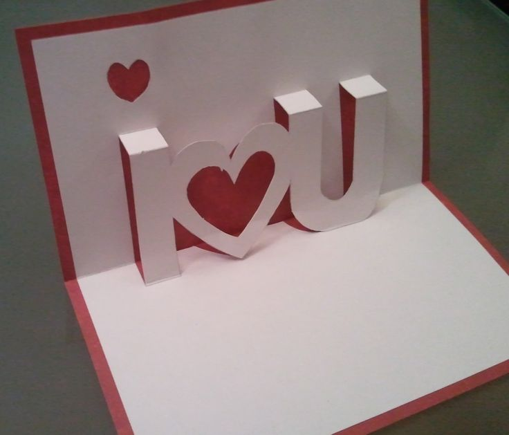 Cute Pop Up Valentine's Day Cards. Becca Creative Popup Valentines Day Card