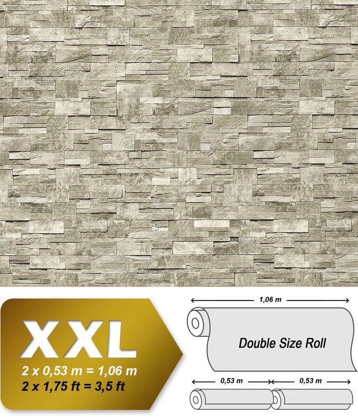 XXL Steen behang natuursteen EDEM 918-34 Vliesbehang muur optiek in reliëf licht grijs natuur grijs graniet | 10,65 qm 001