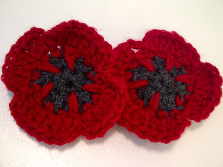 Knitting Pattern For Poppy Flowers : 571 best + Red poppies + images on Pinterest