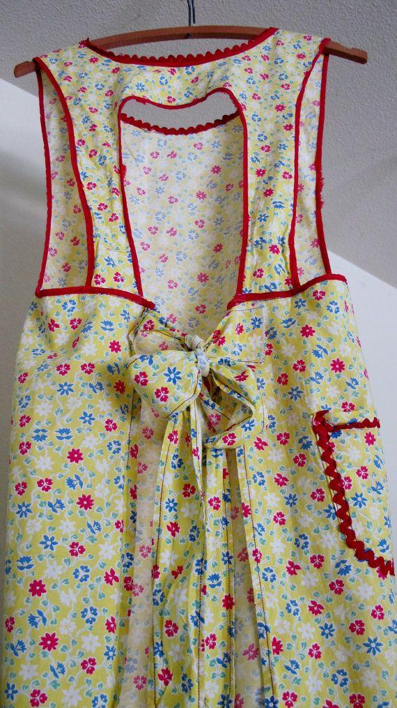 Vintage 1940's Farmhouse Apron Flour Sack by BelindasStyleShop, $28.00