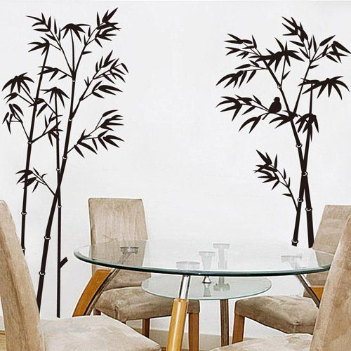 ORDERIN Wall Decal Hot Sale Ink and Wash Painting Black Bamboo Tree Birds Removable Mural Wall Stickers for Television Background Decoration Home Decor, http://www.amazon.com/dp/B01702RQN4/ref=cm_sw_r_pi_awdm_xs_REqlyb67QDT86