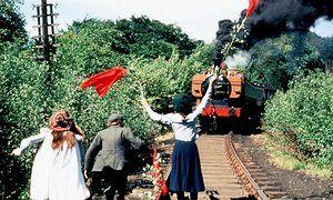 Sally Thomsett, Gary Warren and Jenny Agutter in The Railway Children, adapted from E Nesbitt's classic novel.