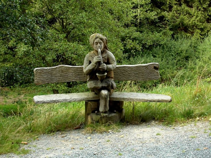 Baum Natur Holz Bank Sitz Statue Park Sich Ausruhen Garten Sitzen Holzbank  Skulptur Bank Aus Wald