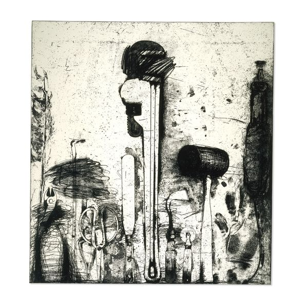 From early in his career Jim Dine (born 1935) has introduced commonplace objects as stand-ins for himself. During the 1960s and early 1970s the notion of an 'autobiography through objects' largely governed his choice of subject matter.