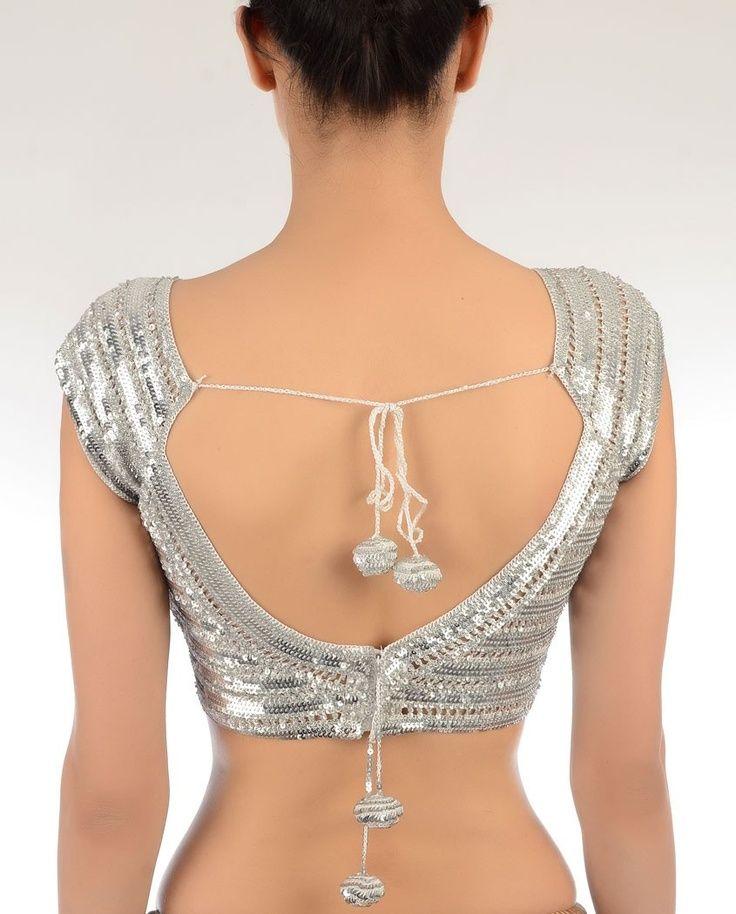 blouse back designer waer
