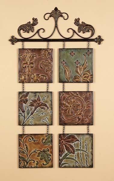 tuscan fleur de lis hanging metal wall art wall decor - Metal Art Decor