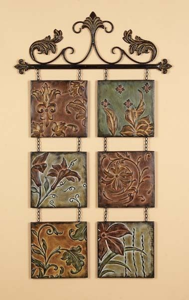 Tuscan Fleur De Lis Hanging Metal Wall Art Wall Decor | eBay