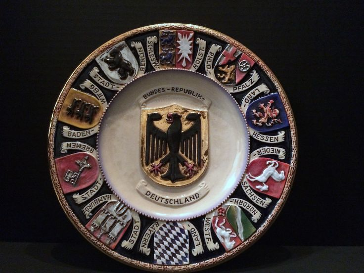 Hand Painted West German Coat Of Arms Souvenir Plate