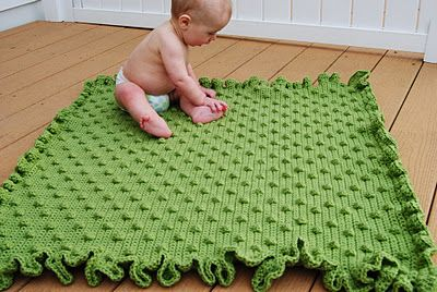 Crochet bobble blanket:  The blogger gives a link to the actual pattern that is free