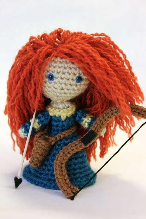 Merida Warrior Princess from Disney's movie, Brave...Love her hair!.