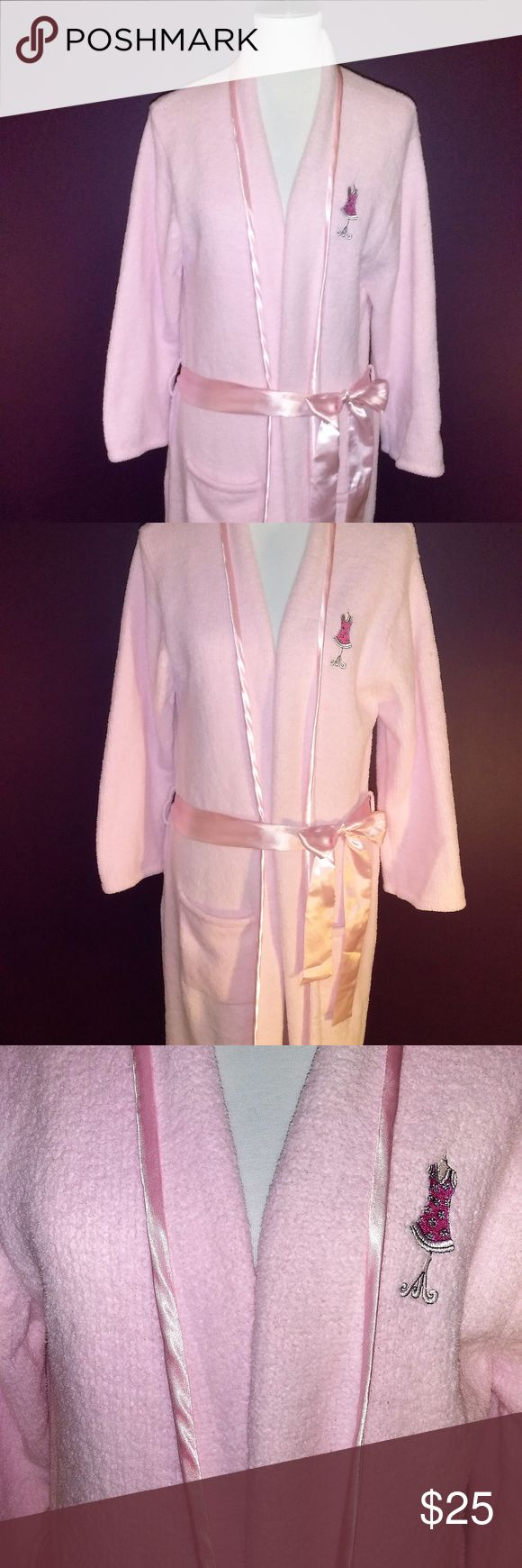 Ooo Lala - Rare Vintage cabi Pink Terri Robe NWOT Super soft & cozy vintage cabi cotton candy pink plush terry robe ♥ NWOT ♥  Size Medium - Made back in the day when Carol was still the head honcho, given as awards to stylists, so these are hard to find. Ready to add glam to your cold mornings! Darling pink satin trim with matching belt, 2 roomy front pockets.  Fabric: 100% Poly Micro   Garment Care: Machine Wash - Tumble Dry  ♥ Please visit my closet again soon - lots of excellent deals on…
