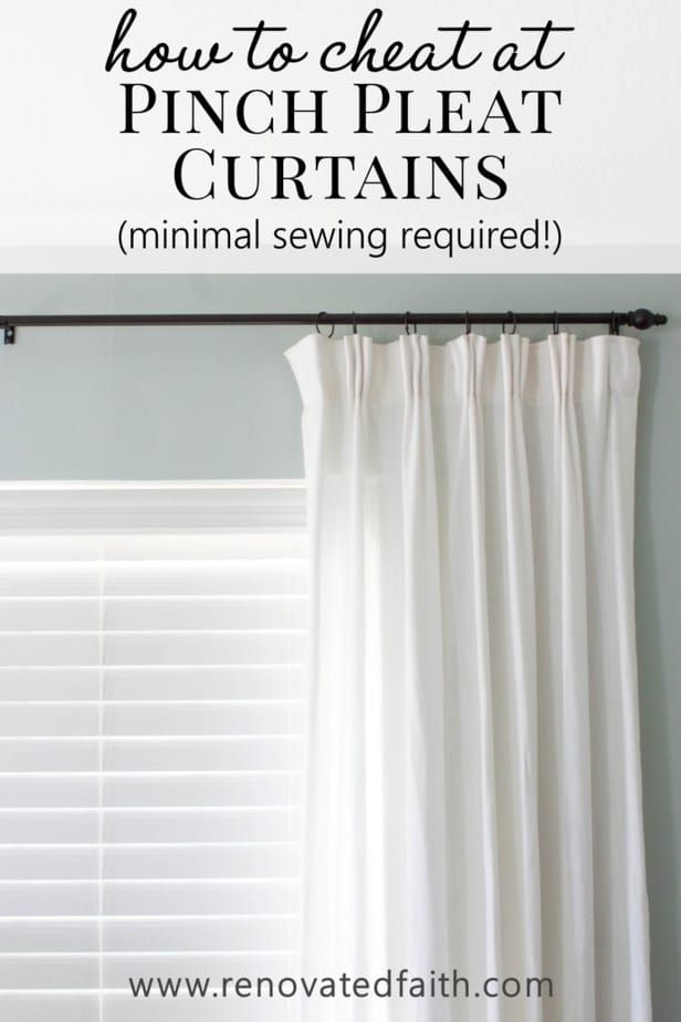 Diy Pinch Pleat Curtains Add A Pinch Pleat To Store Bought Curtains Pinch Pleat Curtains Diy Pleated Curtains Curtains