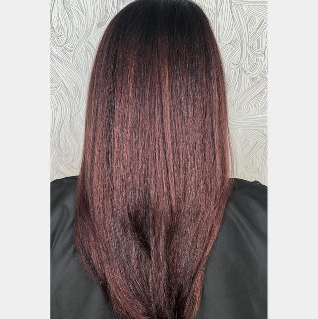 Trieste Red Deep Reddish Mahogany Brown Hair Color In 2020 Reddish Brown Hair Color Mahogany Brown Hair Esalon Hair Color