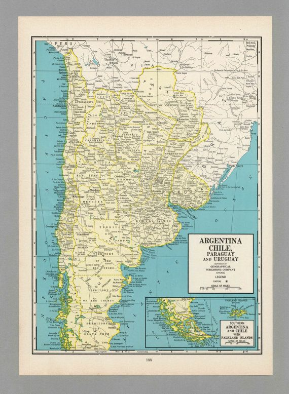Images About Argentine On Pinterest Antiques Sweet And - Argentina map vintage