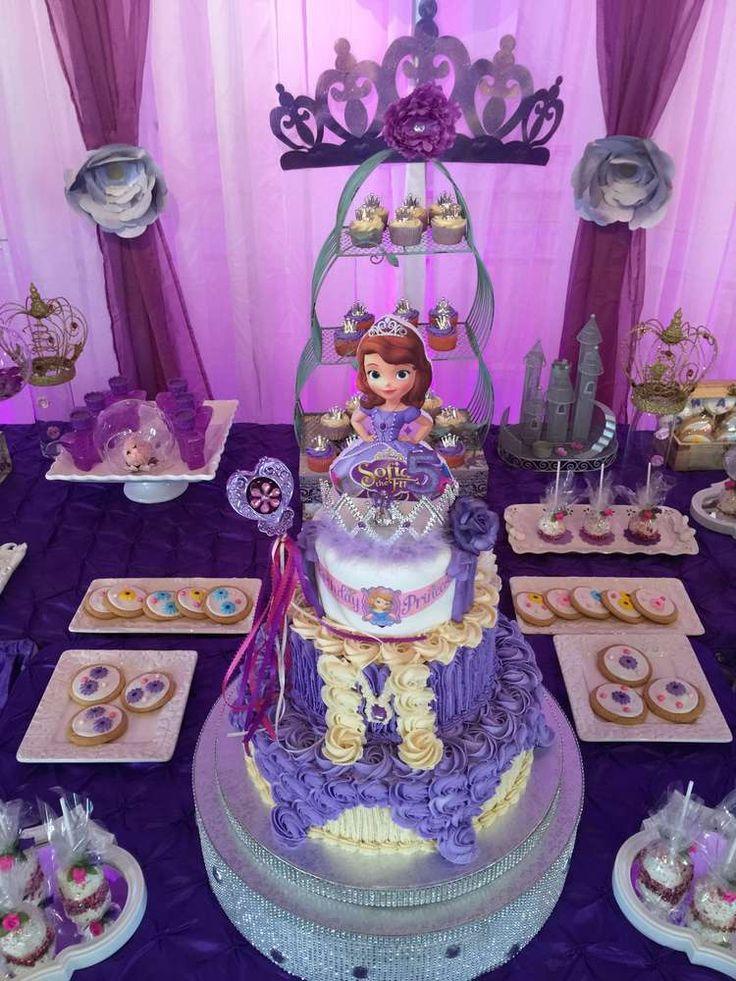 sofia the first birthday party ideas purple dessert. Black Bedroom Furniture Sets. Home Design Ideas